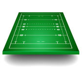 Rugby field with perspective — Stock Vector