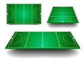Hockey fields — Stock Vector