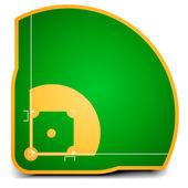 бейсбольное поле — Cтоковый вектор