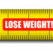 Stock Vector: Measure tape lose weight