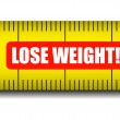 Measure tape lose weight — Stock Vector
