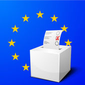 Ballot box EU — Stock Vector
