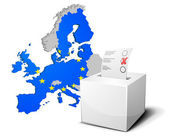 Ballot box Europe — Stock Vector