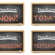 Stock Vector: Blackboard Deadlines