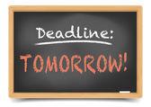 Blackboard deadline imorgon — Stockvektor