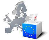 Stembus europa — Stockvector