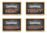 Blackboard Deadlines — Stock Vector
