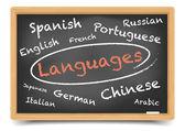 Blackboard talen — Stockvector
