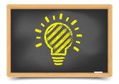 Blackboard Lightbulb — Stock Vector