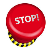 Button Stop — Stock Vector