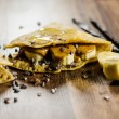 Stock Photo: BananPancakes Wit Choco Chips On Table