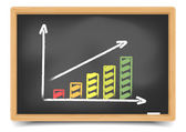 Blackboard Diagram — Stock Vector