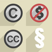 Flat style copyright set — Stock Vector