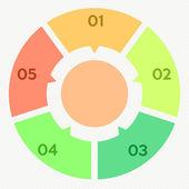 круг инфографики 5 шагов — Cтоковый вектор