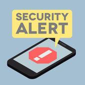 Alerta de segurança do telefone — Vetorial Stock