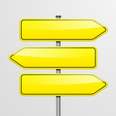 Roadsigns directions — Stock Vector