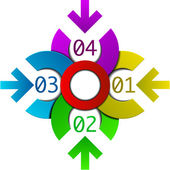 Four steps circle infographic — Vettoriale Stock