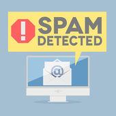 Spam warning — Stock Vector