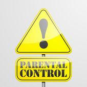RoadSign Parental Control — Stock Vector