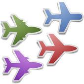 Airplanes — Stockvektor