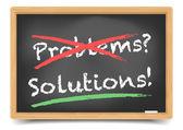 Blackboard Problems Solution — Stock Vector