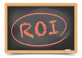 Blackboard ROI — Stock Vector
