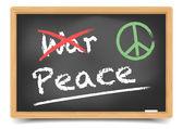 Blackboard War or Peace — Stock Vector