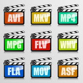 Video codecs — Stock Vector