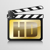 Clapper board HD — Stock Vector