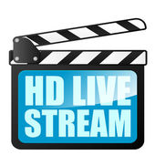 Clapper board HD LiveStream — Stock Vector