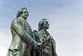 Goethe and Schiller Monument — Stock Photo