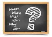 W вопросы — Cтоковый вектор