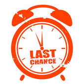 Clock last chance — Stockvector