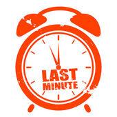 Reloj de último minuto — Vector de stock