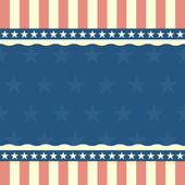 Patriotic stars and stripes background — Stock Vector