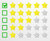 Five star rating — Stock Vector