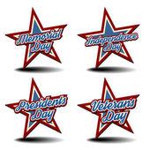 National Holiday Stars — Stock Vector