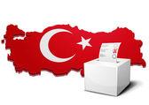 Ballot box turkey — Stock Vector