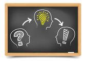 идея решения blackboard проблемы — Cтоковый вектор