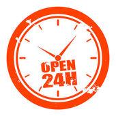 Open 24h — Stock Vector