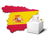 Ballot box spain — Stock Vector