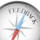 Compass Feedback — Stock Vector