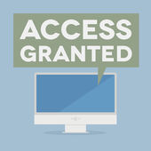 Access granted — Stock Vector