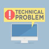 Tech problem — Stock Vector