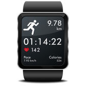 Smartwatch run Fitness — Vector de stock