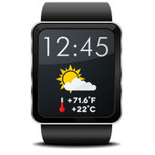 Smartwatch Weather — Stock Vector