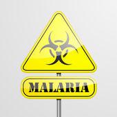 Gul malaria varningstecken — Stockvektor