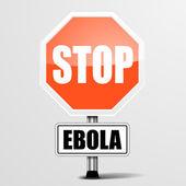Mesaj stop ebola — Stok Vektör