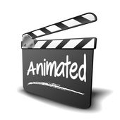 Clapper Board Animated — Stock Vector