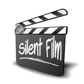 Clapper Board Silent Film — Stock Vector